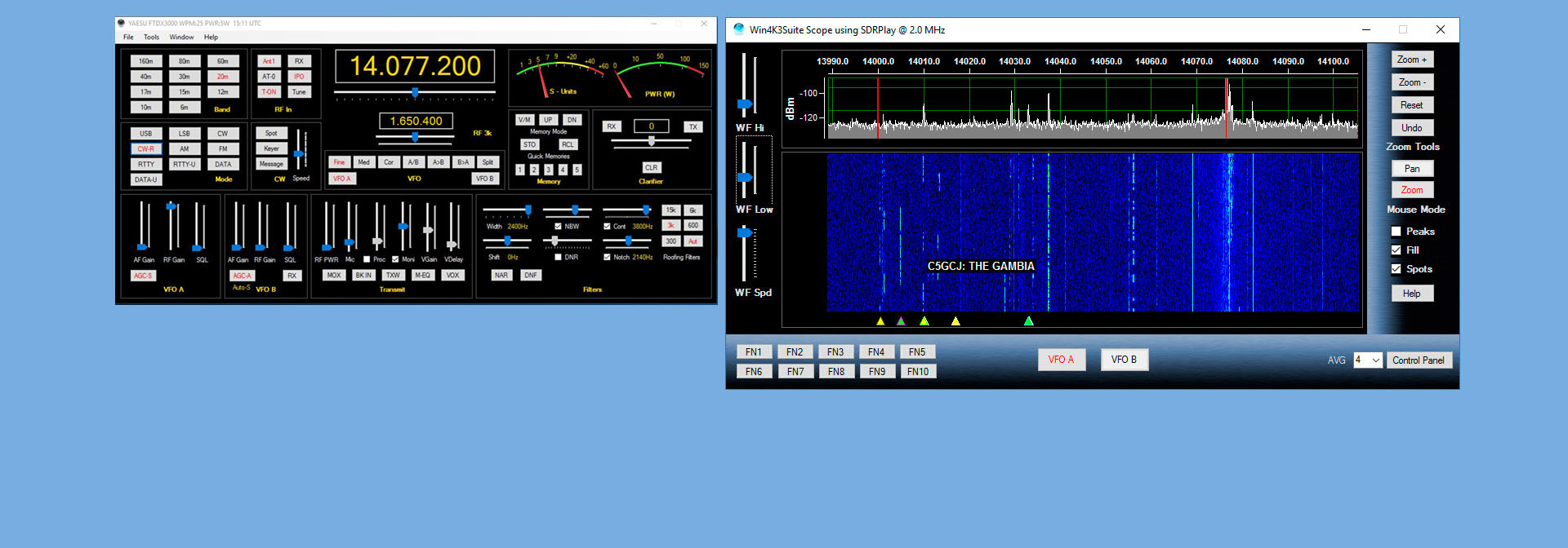 SDRPlay - Win4YaesuSuite for the FTDX and FT-991 Radios